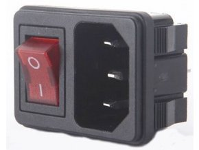 Sieťový konektor IEC60320 230V na panel s vypínačom / AS09 /