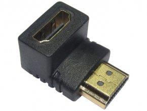 Redukcia HDMI (A) zdierka-HDMI (A) konektor uhlová