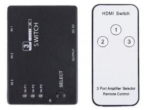 HDMI prepínač 3x HDMI s ovládačom PS3 / HDMI switch /