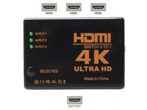 HDMI prepínač 3x HDMI UH-301 / HDMI switch /