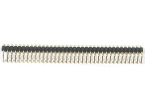 Jumper lišta 1x40pin s rozstupom 2,54mm pre PCB uhlová
