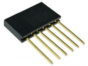 Dutinková lišta 6pin s rozstupom 2,54mm pre PCB