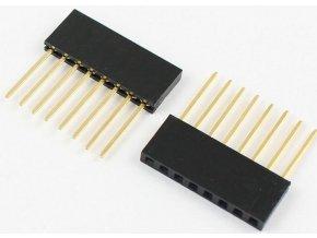 Dutinková lišta 8pin s rozstupom 2,54mm pre PCB