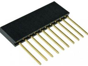 Dutinková lišta 10pin s rozstupom 2,54mm pre PCB