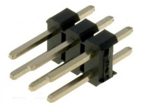 Jumper lišta 2x3pin s rozstupom 2,54mm pre PCB