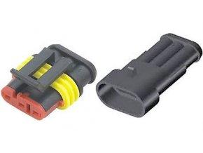 Konektor sa zdierkou - set DJ7031-1.5-11 + DJ7031-1.5-21 3P vodotesný