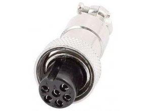 GX12 zdířka 6p na kabel