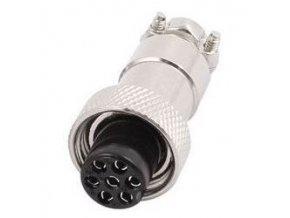 GX12 zdířka 7p na kabel