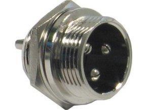 MIC konektor so závitom 3p panelový