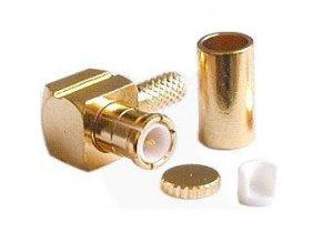 MCX konektor uhlový lisovacie na koax 3mm (RG174)