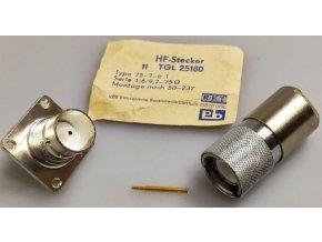 Konektor vf TGL25180 + SPINNER 75-0-F1, 75ohm pozlátený, sada