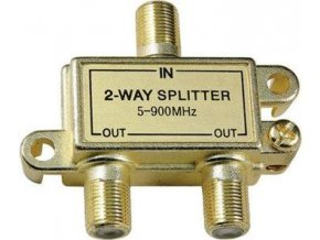 Rozbočovač IN / 2x OUT 5-900 MHz s F konektormi