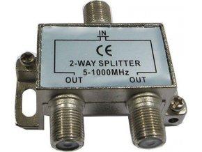 Rozbočovač IN / 2xOUT 5-1000 MHz s F konektormi