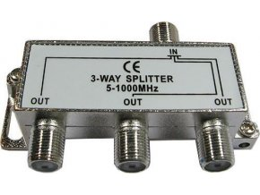 Rozbočovač IN / 3xOUT 5-1000 MHz s F konektormi