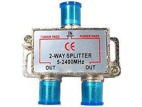 Rozbočovač IN / 2x OUT 5-2400 MHz s F konektormi