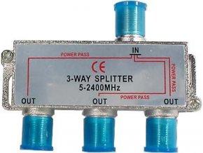 Rozbočovač IN / 3x OUT 5-2400 MHz CE s F konektormi