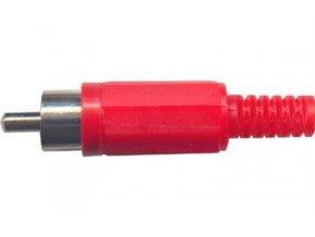 CINCH konektor plast červený