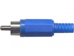CINCH konektor plast modrý