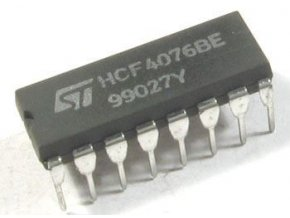 4076 - 4x register D, DIL16 / HCF4076BE /