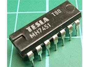 7451 dvojitý poz.logický člen AND-OR-INVERT, DIL14 / MH7451, MH5451S /