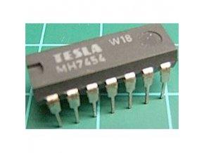 7454 pozitívny člen AND-OR-INVERT, DIL14 / MH7454, MH5454S /