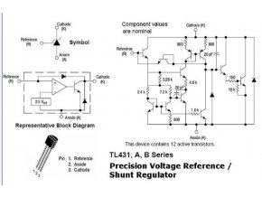 TL431 nap.reference 2,5-36V / 0,1A TO92