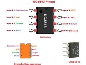 UC3843B PVVM pre spínaný zdroj 500kHz DIL8