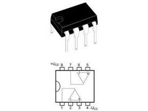 LM358N 2xOZ nízkopríkonový Ucc = 32V DIP8