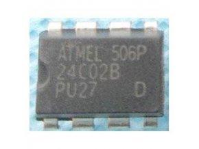 24C02B - seriová EEPROM 2Kbit, DIL8