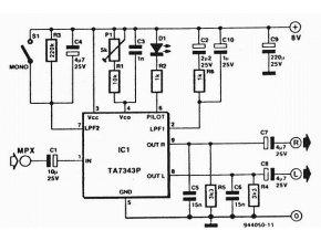 TA7343AP stereo dekodér PLL _DBL1009