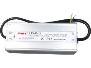 Zdroj - LED driver 12V DC / 80W - Jyins LPV-80-12