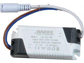 Zdroj-LED driver 18-24W, 230V/54-86V/280mA pro podhled.světla M121-125