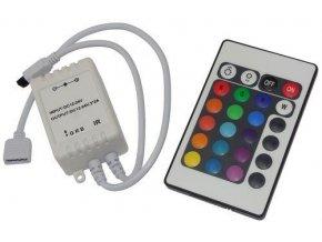 Ovládač LED pásikov RGB 12V / 3x2A, IR D.O. 24 tlačidiel