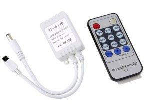 Ovládač LED pásků 12V/6A , IR D.O. 14 tlačítek
