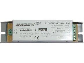Elektronický predradník EB-2x18 pre 2 žiarivky 18W