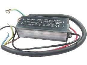 Zdroj- LED driver 30W, 20-40V / 900mA pre LED 30W, IP65, napájanie 230V