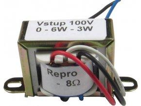 Prevodné transformátor 100V / 3-6W, pre repro 8ohm