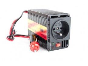 Měnič napětí 12V/230V+USB 200W, CARSPA CAR201, modifikovaná sinusovka