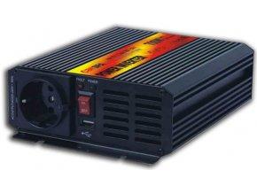 Menič napätia 12V / 230V + USB 700W, CARSPA CAR700, modifikovaná sínusoida