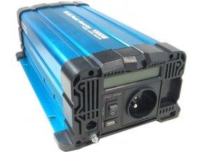 Menič napätia 24V / 230V + USB 1000W, Solarvertech FS1000, čistá sínusoida