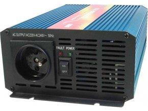Menič napätia 12V / 230V 600W, CARSPA P600, čistá sínusoida