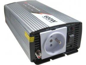 Měnič napětí 12V/230V 600W, JYINS JYP-600, čistá sinusovka
