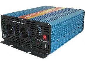 Měnič napětí 24V/230V+USB 2000W, CARSPA P2000, čistá sinusovka