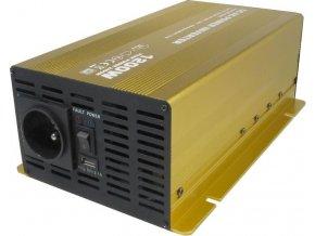 Měnič napětí 24V/230V 1200W, Soluowill NP1200, čistá sinusovka