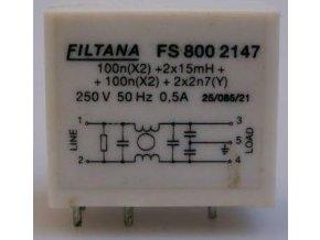 Odrušovací filter FS 800 2147, 250V / 0,5A