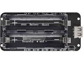 Nabíjačka-PowerBank, modul V8 pre ESP32, ESP8266 pre 2x Li-Ion 18650