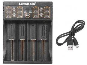 Nabíjačka LiitoKala LII-402, 1-4x pre Li-Ion alebo Ni-MH