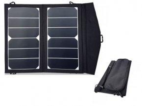 Prenosný fotovoltaický solárny panel 2x7W s USB, solárna nabíjačka