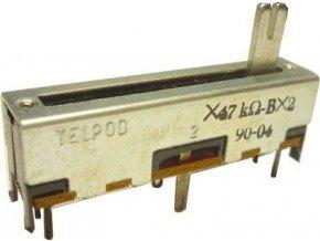 47K / G x2 TELPOD SVP-30, potenciometer ťahový tandemový