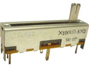 100k / N x2 TELPOD SVP-30, potenciometer ťahový tandemový